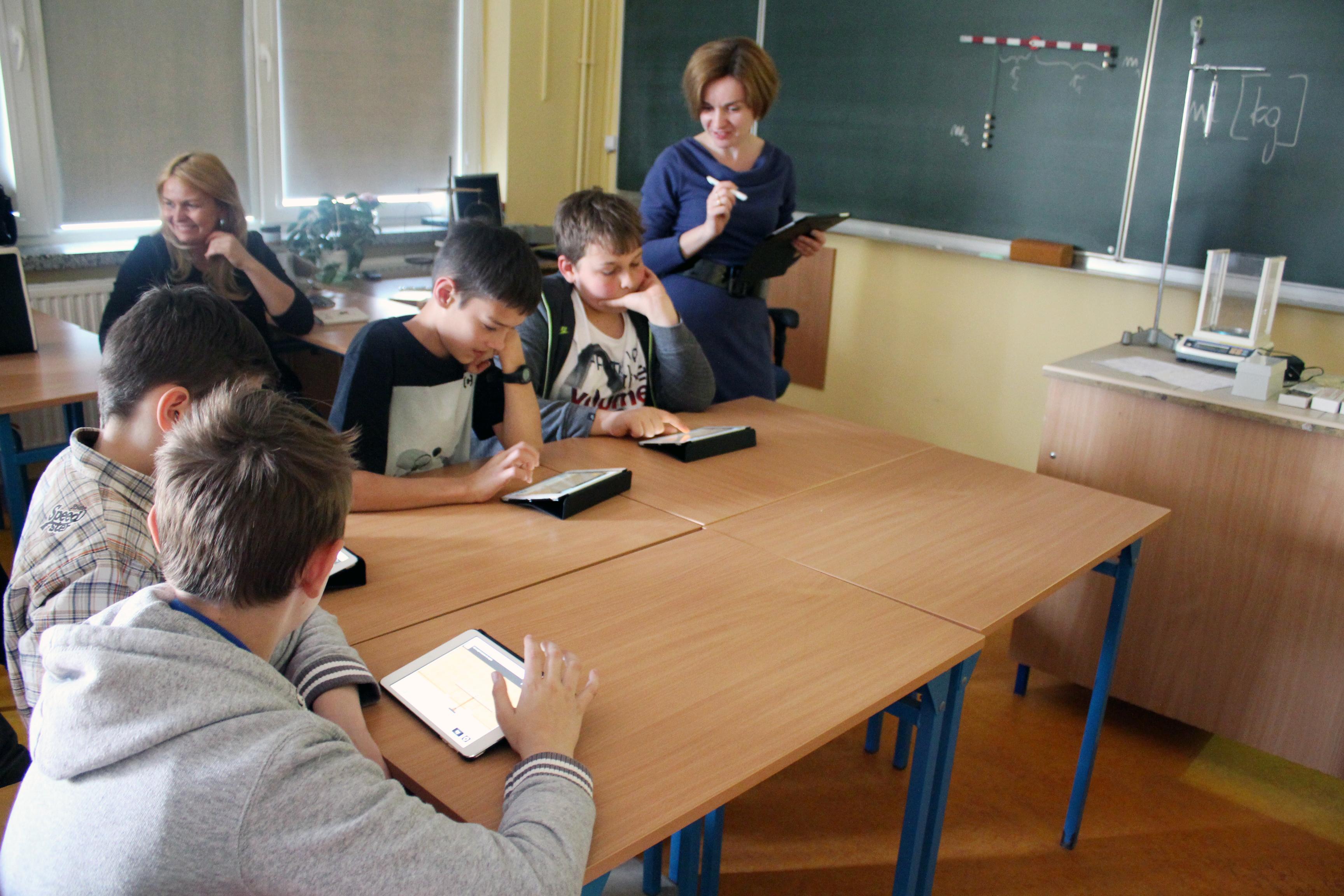 Foto-relacja z otwartej lekcji fizyki z iPadem!