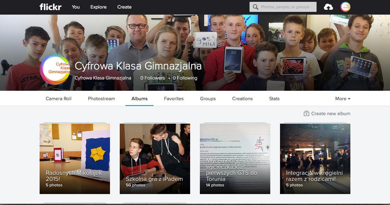 Galeria zdjęć naszej klasy w serwisie Flickr.com